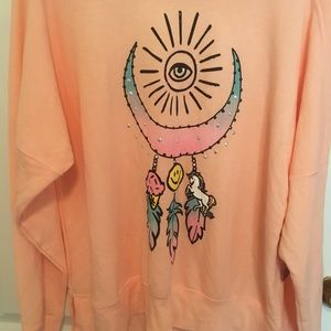 Peach Unicorn sweatshirt size XL (16-18)